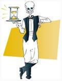Serie de la muerte - camarero stock de ilustración