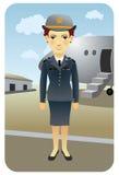 Serie de la profesión: Asistente de vuelo Fotos de archivo