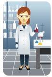 Serie de la profesión: científico Stock de ilustración