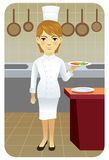 Serie de la profesión: Cocinero del cocinero Ilustración del Vector
