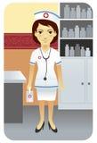 Serie de la profesión: enfermera Fotografía de archivo