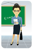 Serie de la profesión: Profesor/profesor Ilustración del Vector