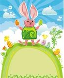 Serie de la tarjeta de felicitación de Pascua stock de ilustración