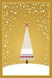 Serie de la tarjeta de Navidad - oro ilustración del vector