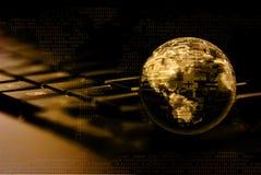 Serie de la tecnología y de la comunicación global Foto de archivo