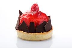 Serie de la torta. Crema esmaltada torta de la frambuesa. Fotos de archivo libres de regalías