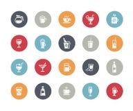 Serie de las obras clásicas de //de los iconos de las bebidas stock de ilustración