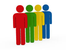 serie de las personas 3d Foto de archivo