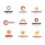 Logotipo solar Foto de archivo libre de regalías