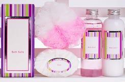Serie de los cosméticos del BALNEARIO imagen de archivo