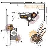 Serie de los elementos del diseño de la tecnología ilustración del vector