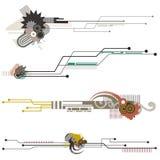 Serie de los elementos del diseño de la tecnología Fotografía de archivo libre de regalías