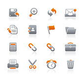 Serie de los iconos del grafito de // del interfaz Fotografía de archivo