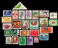Serie de los sellos que se ejecuta Imagen de archivo