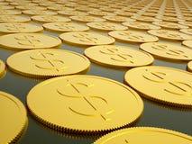 Serie de monedas de oro Foto de archivo libre de regalías