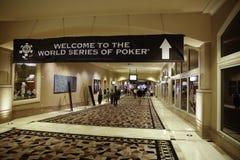 Serie de mundo del póker (WSOP) en Río Fotografía de archivo