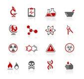 Serie de // Redico de la ciencia stock de ilustración