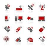 Serie de // Redico de la radio y de las comunicaciones Imágenes de archivo libres de regalías