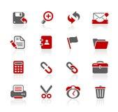 Serie de // Redico de los iconos del interfaz del Web ilustración del vector