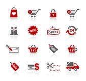 Serie de // Redico de los iconos del Web de las compras stock de ilustración