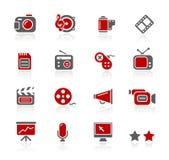 Serie de // Redico de los multimedia Fotografía de archivo libre de regalías