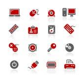 Serie de // Redico del ordenador y de los dispositivos ilustración del vector