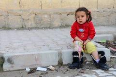 Serie de retratos de los refugiados del sirio de los niños Imágenes de archivo libres de regalías