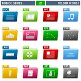 Serie de Robico de los iconos de la carpeta [1] - Imagen de archivo