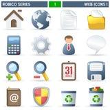 Serie de Robico de los iconos del Web [1] - stock de ilustración