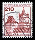 Serie de Schwanenburg, de Kleve, de forteresses et de châteaux, vers 1979 images libres de droits