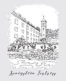 Serie de tarjeta o de flayers de las invitaciones del viaje de las vacaciones con writin caligráfico Foto de archivo libre de regalías