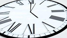 Serie de torneado animada de la hora del tiempo de reloj - las cinco metrajes