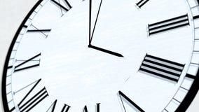 Serie de torneado animada de la hora del tiempo de reloj - las cuatro almacen de metraje de vídeo