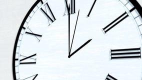 Serie de torneado animada de la hora del tiempo de reloj - las dos almacen de video