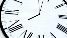Serie de torneado animada de la hora del tiempo de reloj - las ocho metrajes