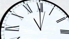 Serie de torneado animada de la hora del tiempo de reloj - las once metrajes