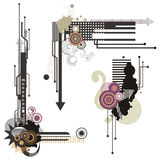 Serie degli elementi di disegno di tecnologia Fotografie Stock