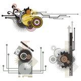 Serie degli elementi di disegno di tecnologia Immagini Stock