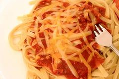 Serie degli spaghetti Fotografie Stock Libere da Diritti