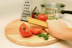 Serie degli spaghetti Fotografie Stock