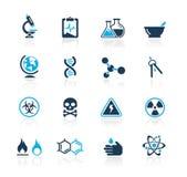 Serie del azul de // de la ciencia stock de ilustración