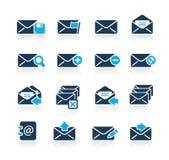 Serie del azul de // de los iconos del email stock de ilustración