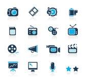 Serie del azul de // de los multimedia Fotografía de archivo