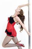 Serie del bailarín de poste Imágenes de archivo libres de regalías