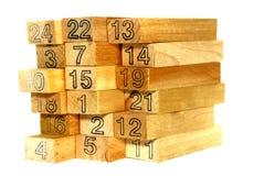 Serie del blocco di legno Fotografie Stock Libere da Diritti