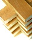 Serie del blocco di legno Fotografia Stock Libera da Diritti