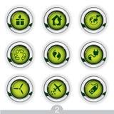 Serie del botón de la ecología Imagen de archivo libre de regalías
