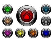Serie del botón del icono - #2 casero Foto de archivo libre de regalías