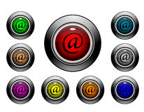 Serie del botón del icono - email Imágenes de archivo libres de regalías