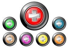 Serie del botón del icono - médica Fotos de archivo libres de regalías